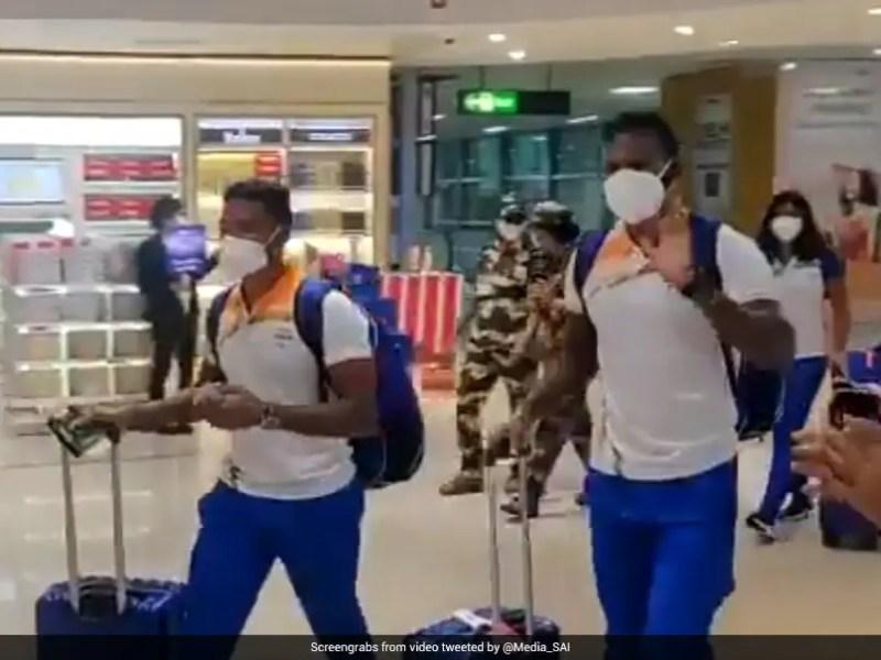 Watch: Indias Tokyo Olympics-Bound Athletes Receive Resounding Reception In Delhi