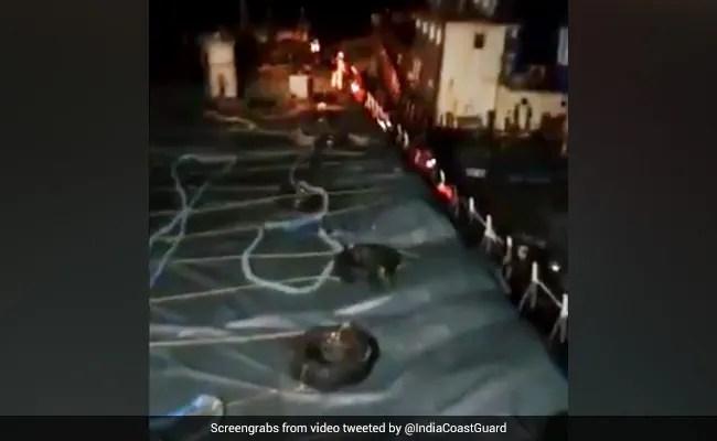 12 Crew Members On Cargo Ship MV Kanchan Rescued Off Gujarat Coast
