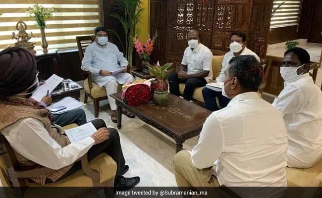 In Delhi, Tamil Nadu Minister Seeks NEET Exemption, More Vaccine Doses