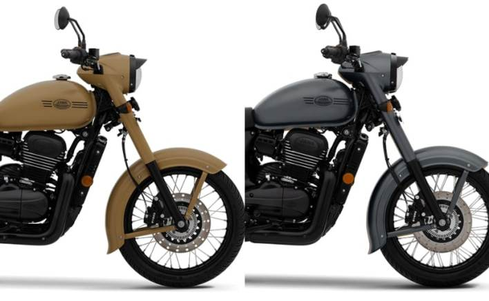 The Jawa Khakhee & Midnight Grey colours are marginally more expensive than the standard versions