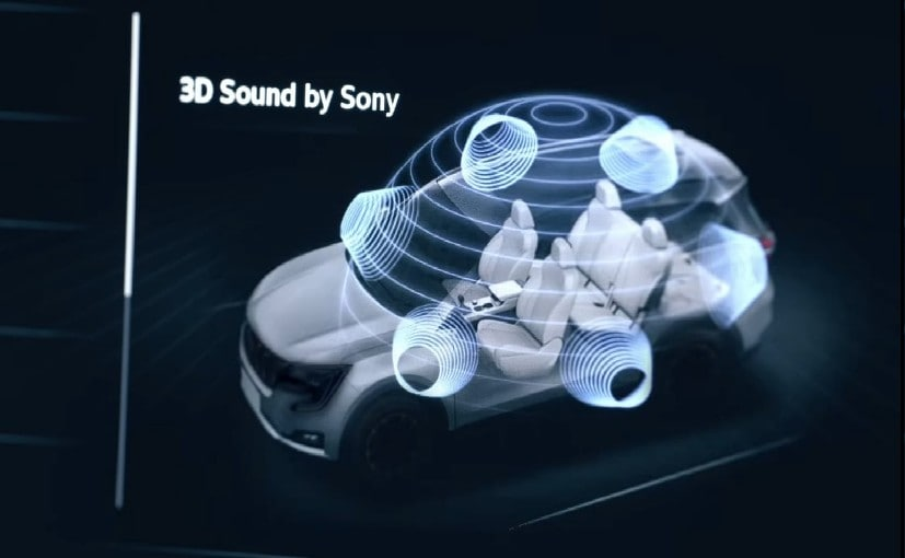 The Mahindra XUV700 receives a 3D surround sound system powered by Sony.