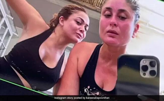 Kareena Kapoor And Amrita Arora's Work Out Session Calls For Mandatory Selfies