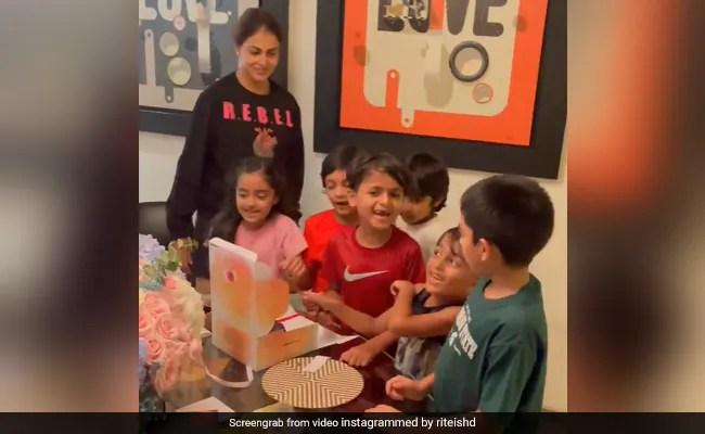 Inside Genelia D'Souza's Birthday Celebrations With Husband Riteish Deshmukh And Kids