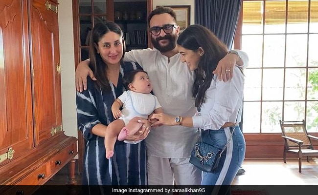 Can't Take Our Eyes Off Baby Jeh In Sara's Adorable Birthday Wish For Dad Saif Ali Khan