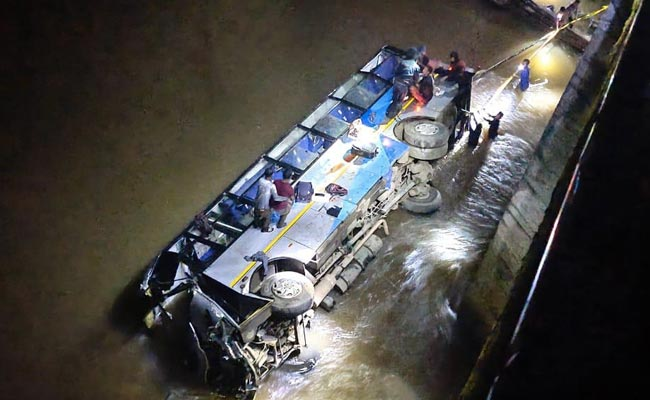 6 Dead After Bus Carrying 21 Passengers Falls Into River In Meghalaya