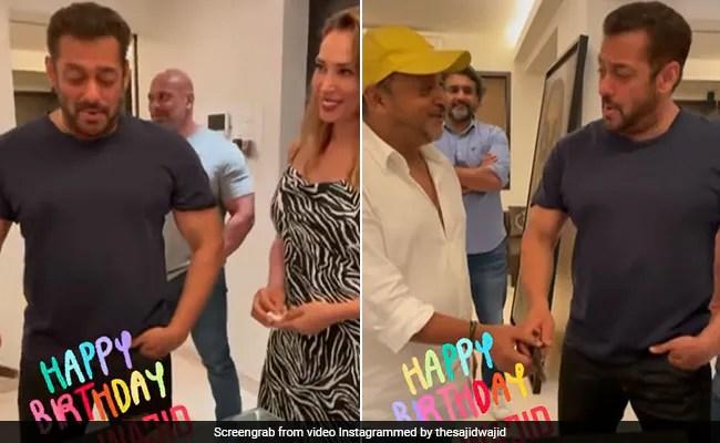 Salman Khan Cuts Cake On Late Composer Wajid Khan's Birth Anniversary With Iulia Vantur By His Side