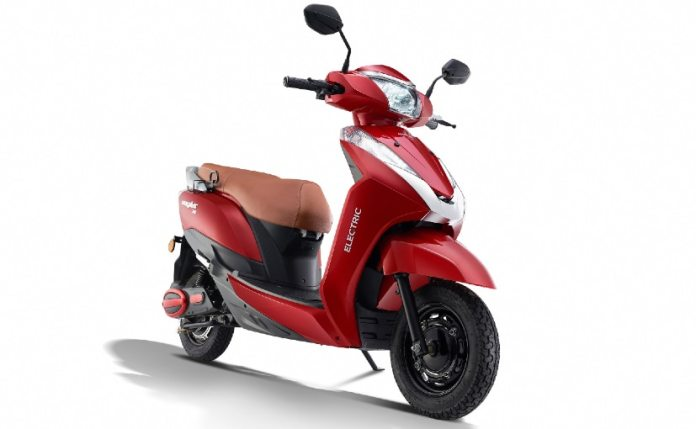 The Ampere Magnus EX electric scooter has a top speed of 53 kmph