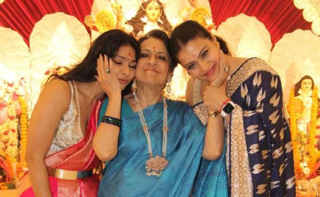 Durga Puja 2021: New Day, New Pics From Kajol's Festivities With Tanuja, Tanishaa Mukerji And Yug