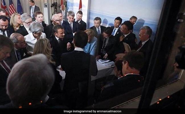 emmanuel macron g7 summit