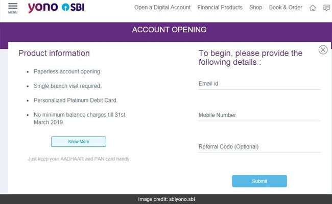 sbi digital account   yono website