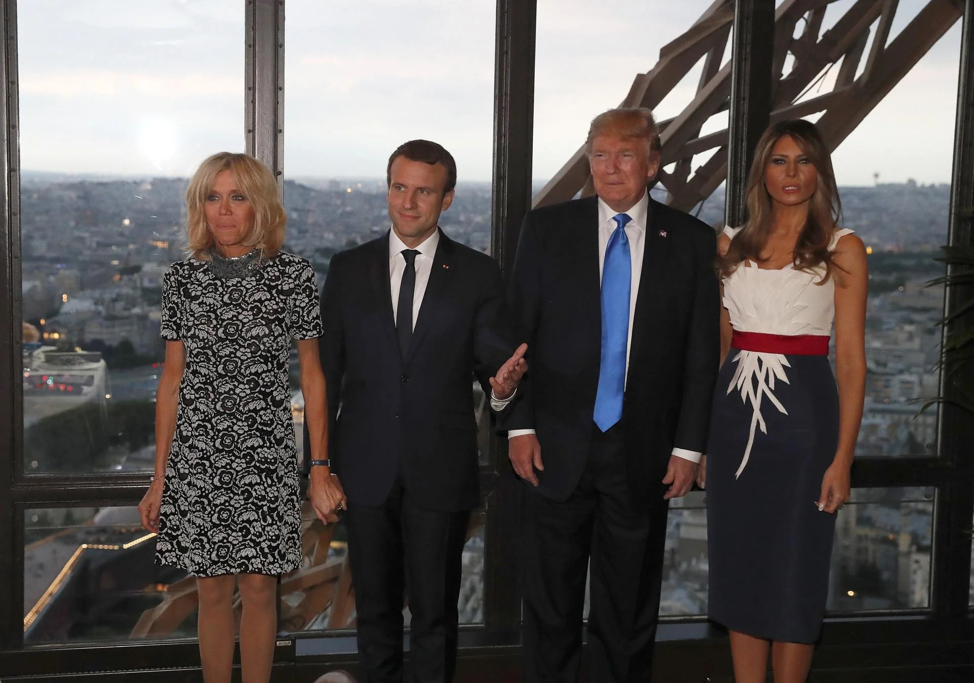 Image result for macron trump eifel