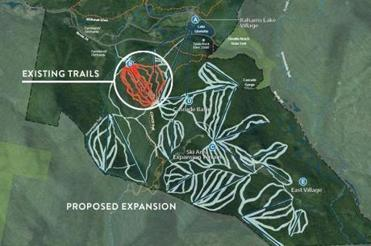 Proposed expansion of The Balsams ski area.