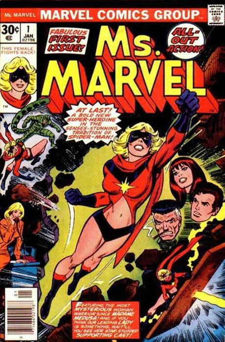 Carol Danvers debuted as Ms. Marvel in 1977.