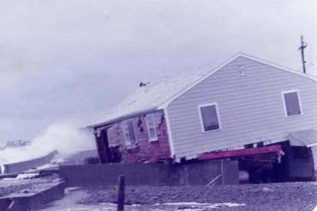 The house at 48 Oceanside Drive took a pounding in the Blizzard of 1978, which knocked it off its foundation.