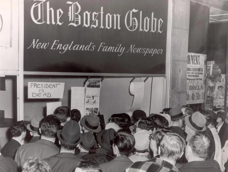 Remembering John F  Kennedy   Pictures   The Boston Globe November 22  1963  Stunned readers saw the first pictures and read the  first news