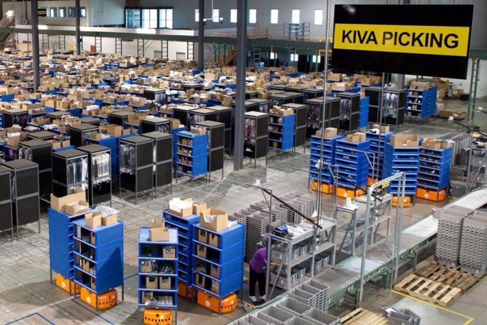 45,000 Robots Keep Things Moving At Amazon Warehouses