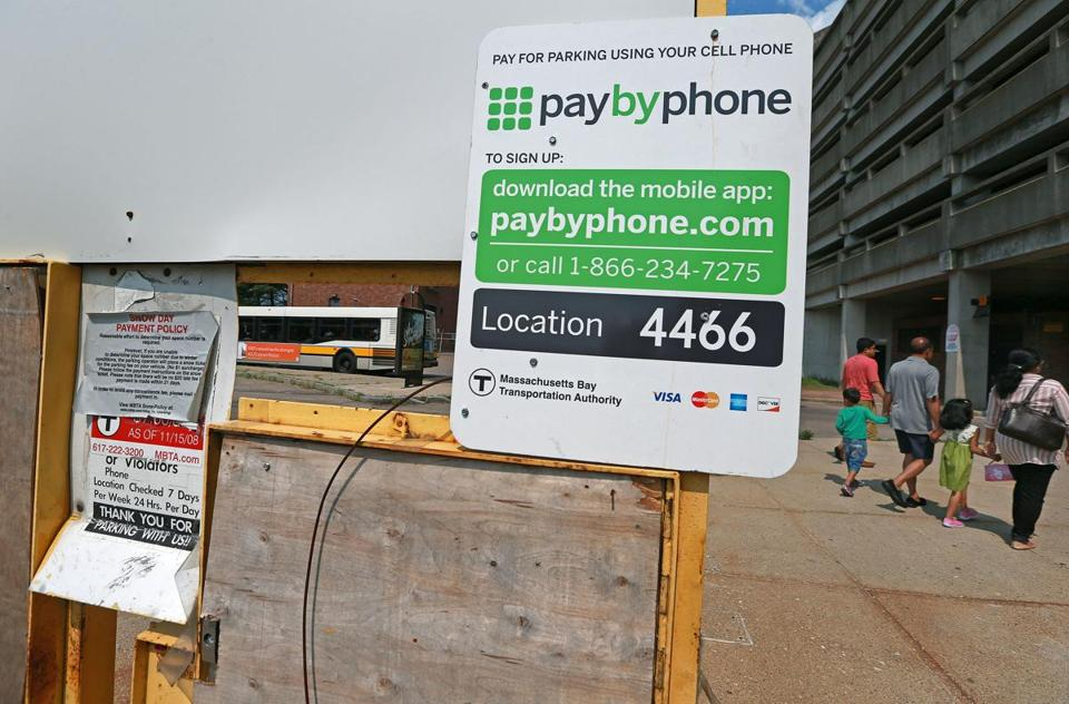 Mixed reviews for MBTA s new parking payment system   The Boston Globe PayByPhone  in place at Quincy Adams station since earlier this year  had  its wide