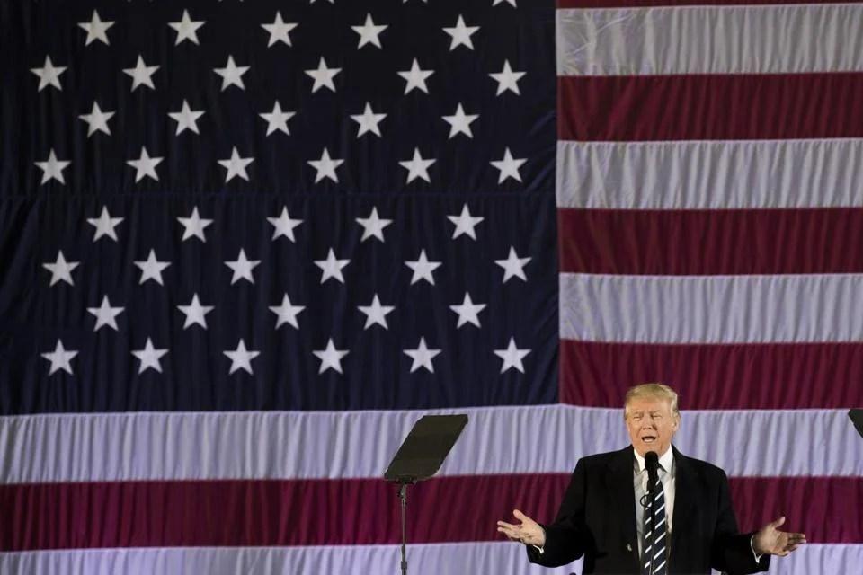 President-elect Donald Trump spoke on Friday in Baton Rouge, Louisiana.