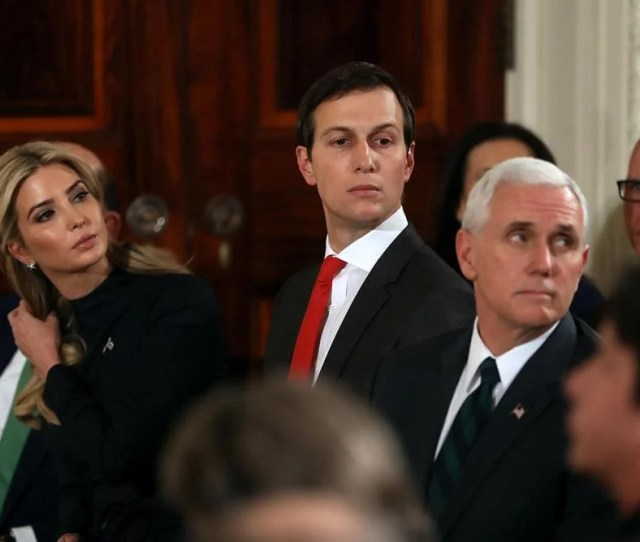 From Left Ivanka Trump Jared Kushner And Vice President Mike Pence