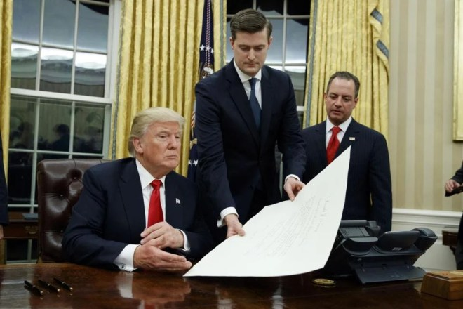 Image result for donald trump and rob porter