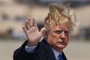 Image result for trump's hair wind