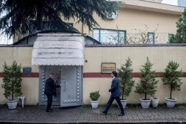 The Saudi Arabian consulate in Istanbul. Jamal Khashoggi walked in for an appointment and has not been seen since.