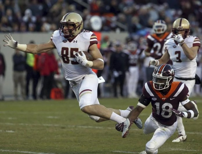 BC's Korab Idrizi scampers for a 22-yard touchdown in last week's win over Virginia Tech.