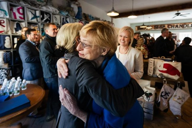 Maine Governor-elect Janet Mills greeted supporters recently. Mills has vowed to expand Medicaid coverage for poor Mainers.