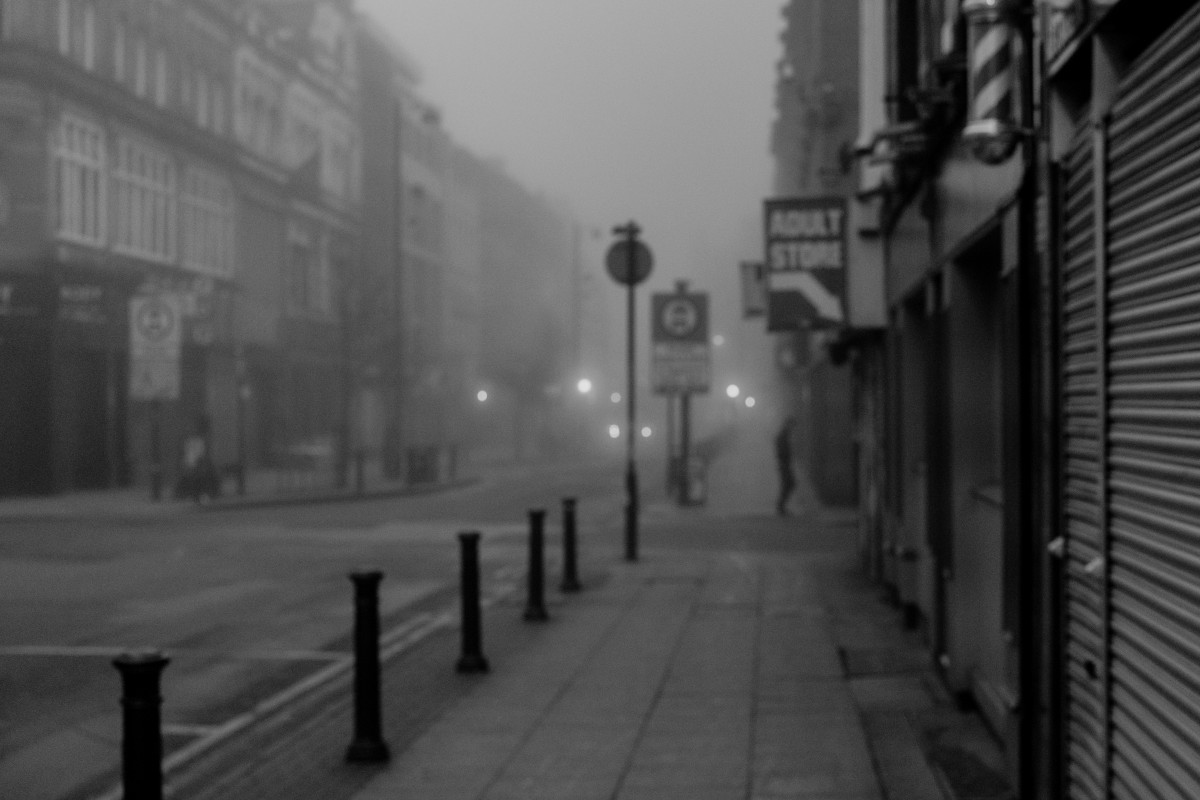 Free Images Black And White Fog Road Alley Foggy