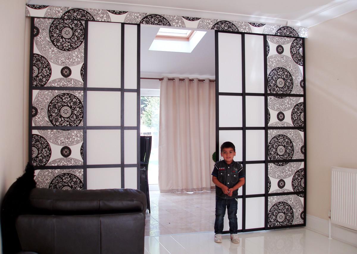 interieur maison mur rideau