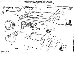 CRAFTSMAN CRAFTSMAN 10INCH TABLE SAW Parts   Model
