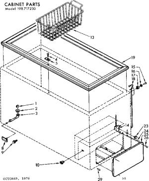 KENMORE FREEZER Parts | Model 198717230 | Sears PartsDirect