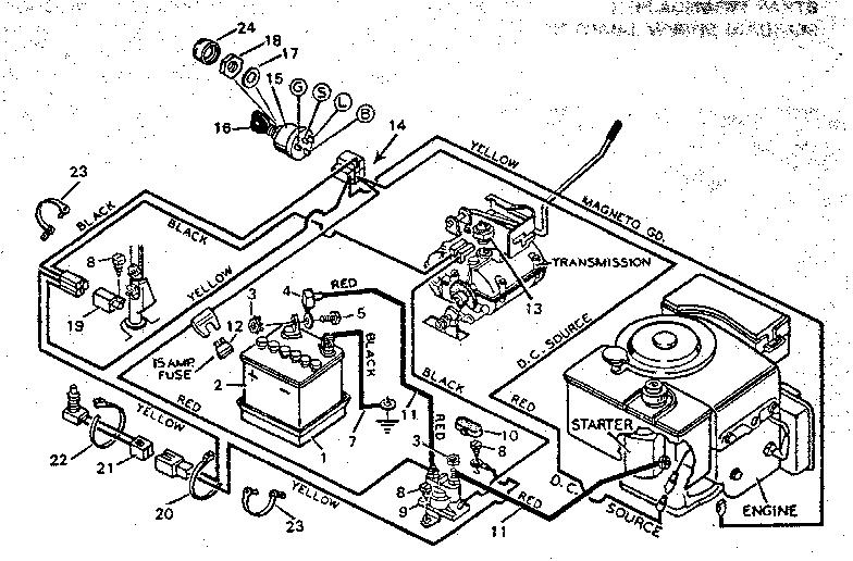 Lawn Tractor Wiring Schematic Lawn Mower Key Switch Wiring Diagram