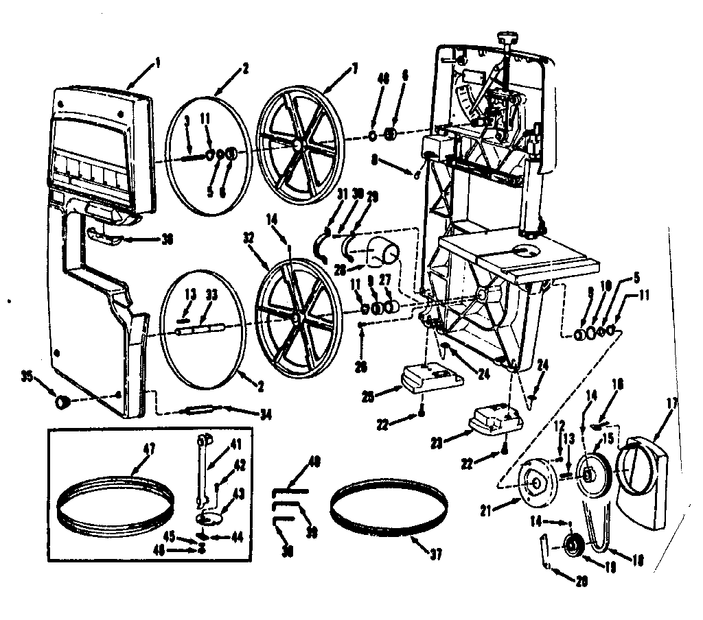 Band Saw Replacement Parts