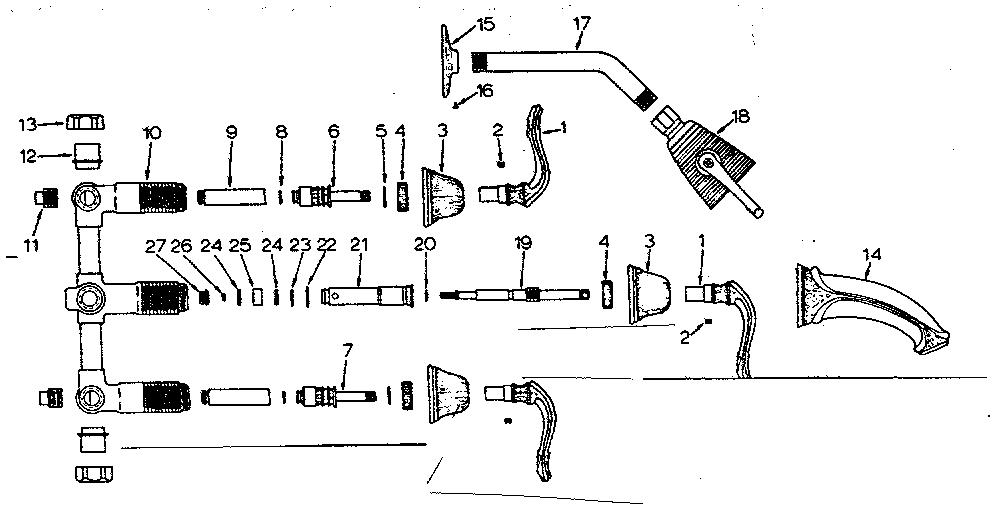 shower handle parts names