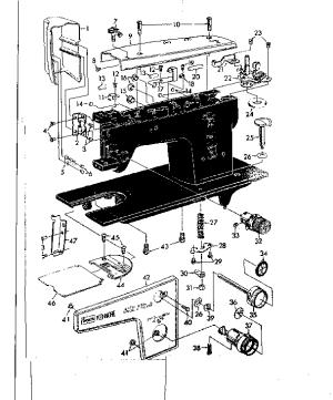 KENMORE KENMORE SEWING MACHINE Parts | Model 14812210