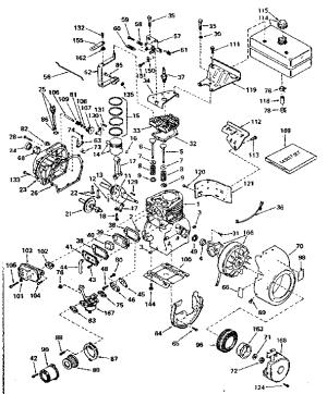 TECUMSEH 5 HP 4CYCLE ENGINE Parts   Model H5065417L