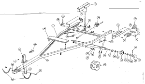SEARS 250 POUND AND 450 POUND BOAT TRAILERS Parts | Model