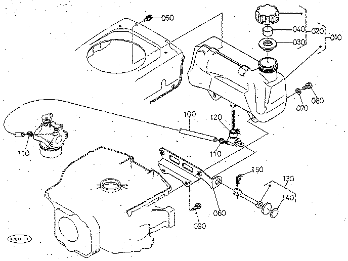 Kubota L3400 Fuel Parts Diagram