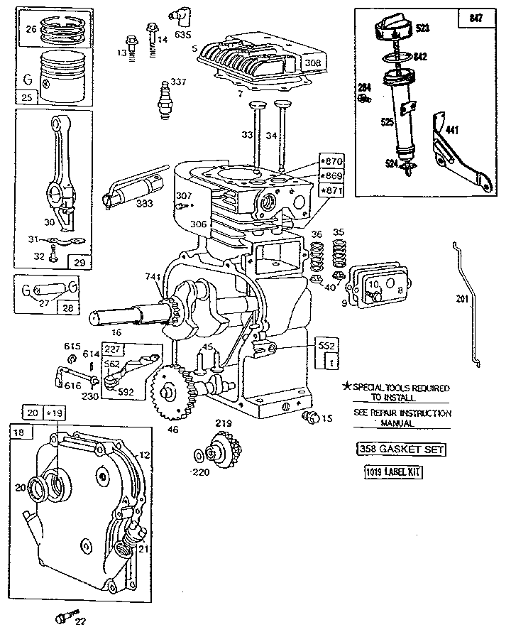 Briggs And Stratton 5hp Engine Diagram | Unixpaint
