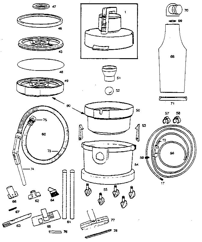 Vax 221a 07 Wet Dry Vacuum Parts