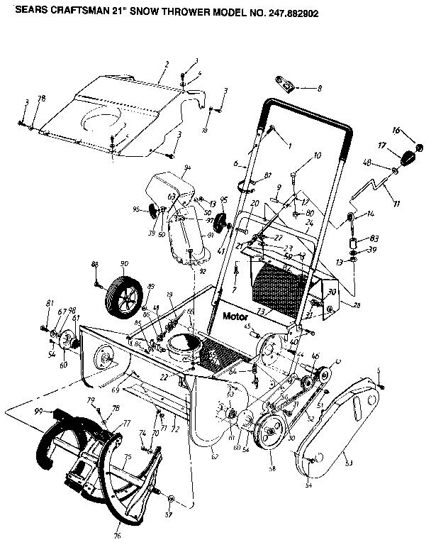 Model 247882902 | CRAFTSMAN SNOW THROWER Parts