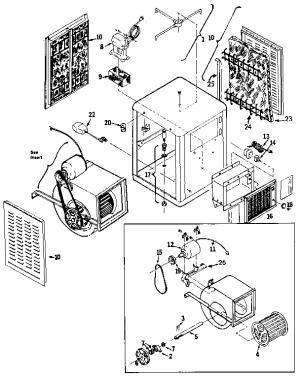 ADOBEAIR EVAPORATIVE COOLER Parts   Model ew335f   Sears