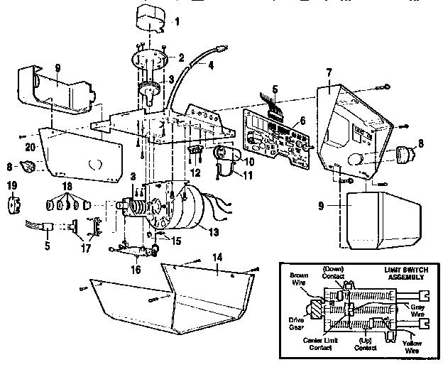 Garage Door Opener Motor Parts