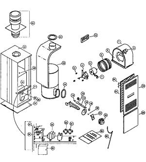 COLEMAN  EVCON IND FURNACE Parts   Model 7956759d