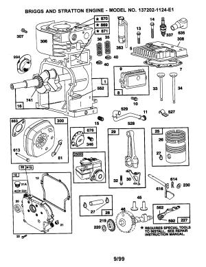 BRIGGS & STRATTON ENGINE Parts | Model 1372021124E1