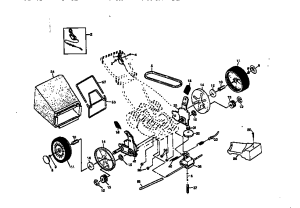 ROTARY LAWN MOWER 917377541 Diagram & Parts List for