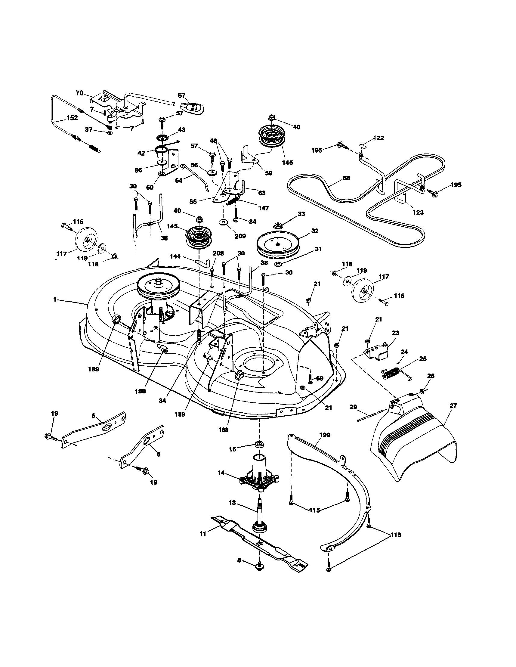 Husqvarna Lawn Mower Parts Diagram