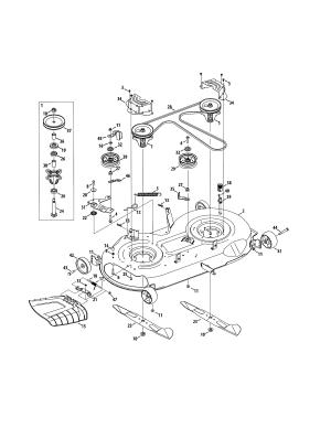 DECKSPINDLE ASSEMBLY Diagram & Parts List for Model