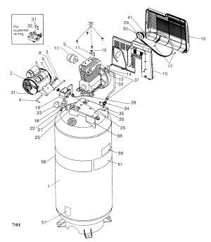 CRAFTSMAN AIR COMPRESSOR Parts   Model 919184170   Sears